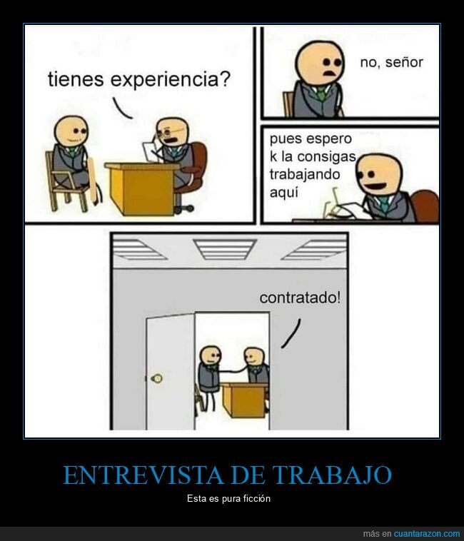 entrevista de trabajo,experiencia