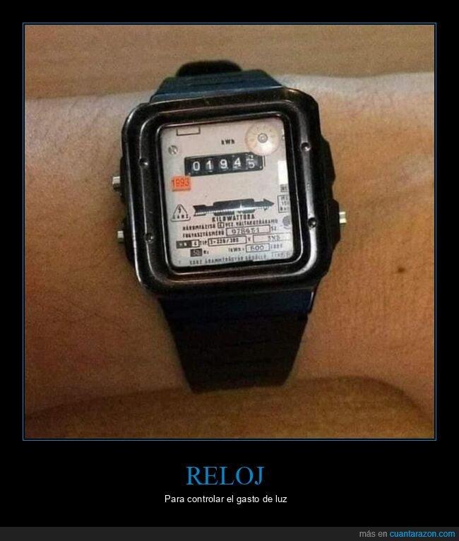 gasto,luz,reloj