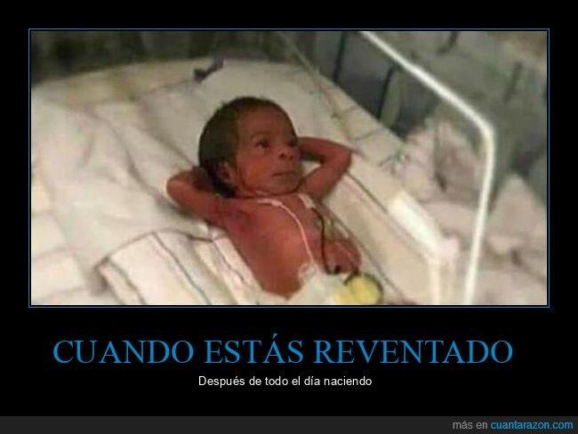 bebé,cansado,nacer