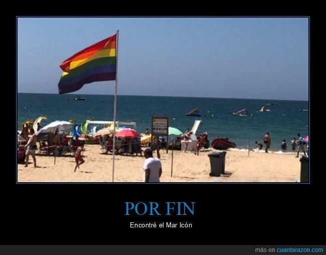 bandera,gay,mar,playa