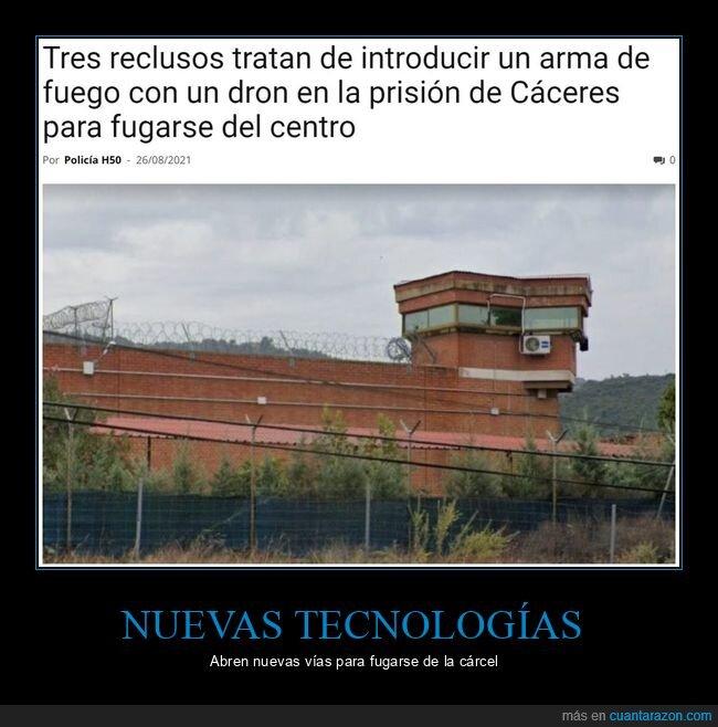 arma,cárcel,dron,reclusos