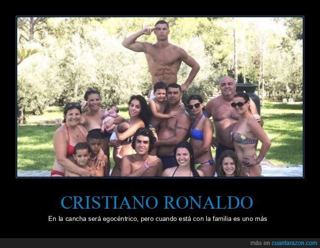 cristiano ronaldo,egocéntrico,familia