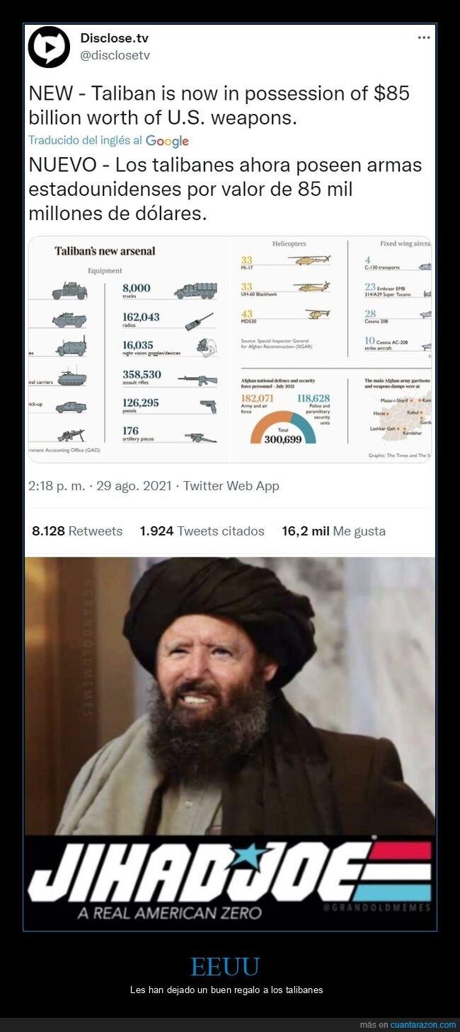 afganistán,armas,eeuu,talibanes