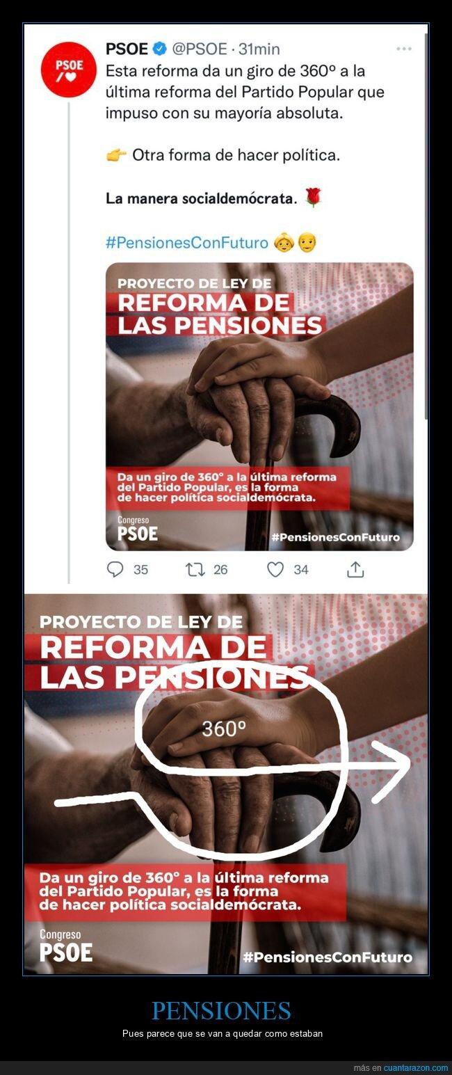 fails,pensiones,políticos,psoe