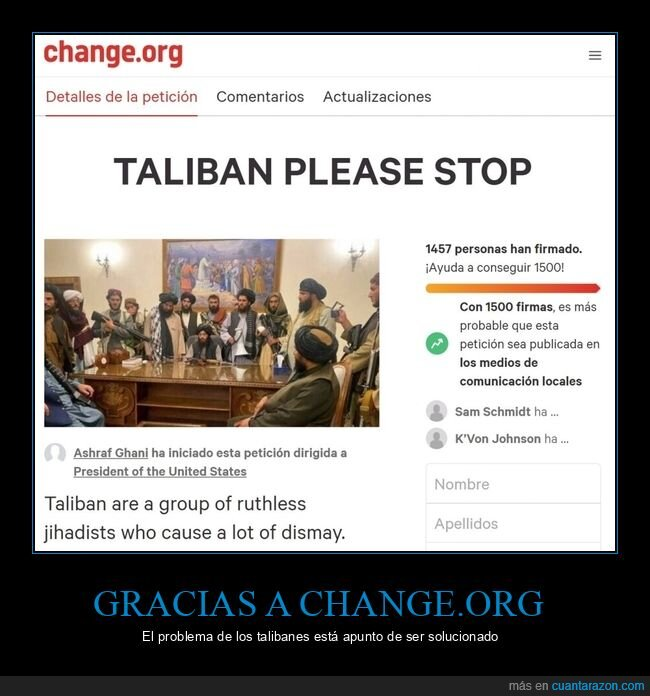 change.org,firmas,talibanes