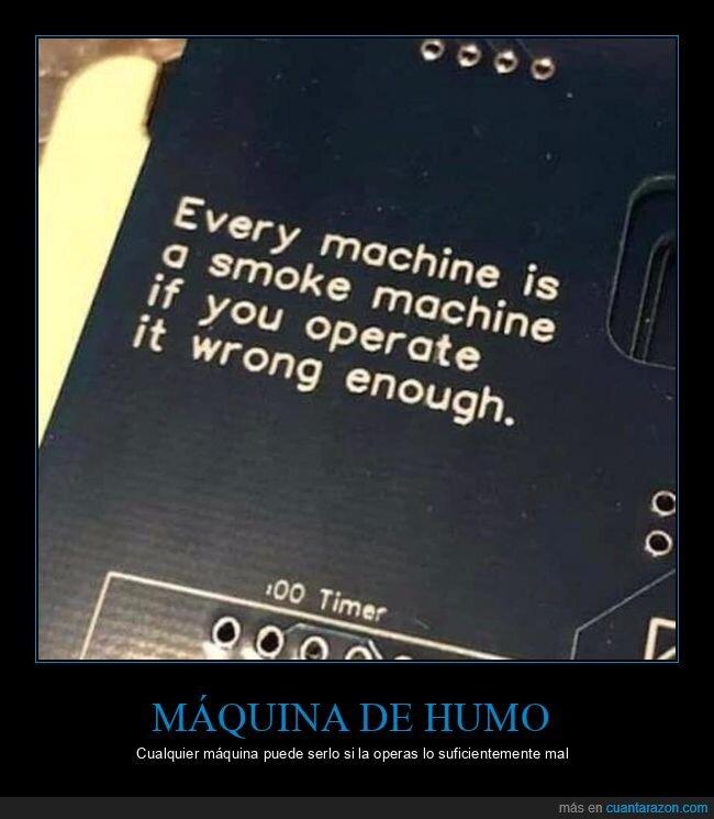 mal,máquina de humo,máquinas,operar