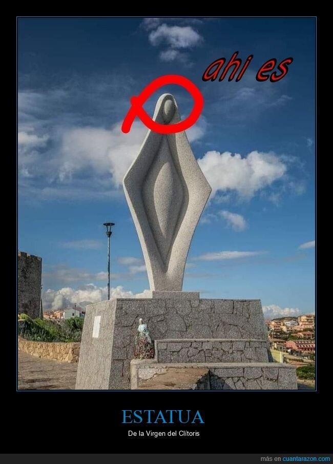 escultura,virgen,wtf