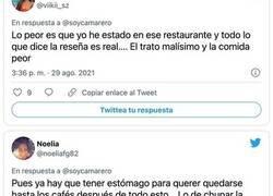 Enlace a Este cliente dejó una terrible y original reseña tras comer en este restaurante: