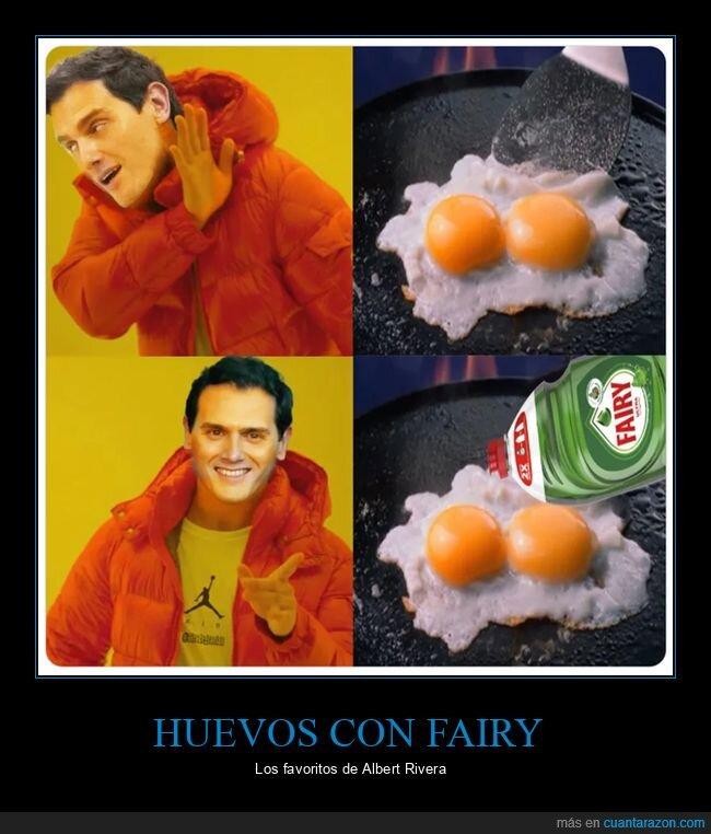 albert rivera,coca,fairy,huevos