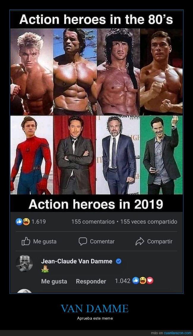 ahora,antes,héroes de acción,van damme