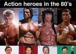 Enlace a Héroes de acción en los 80 y ahora
