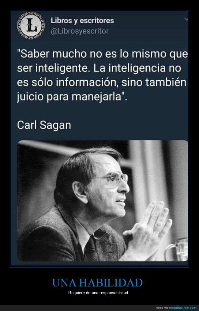 carl sagan,conocimiento,inteligencia