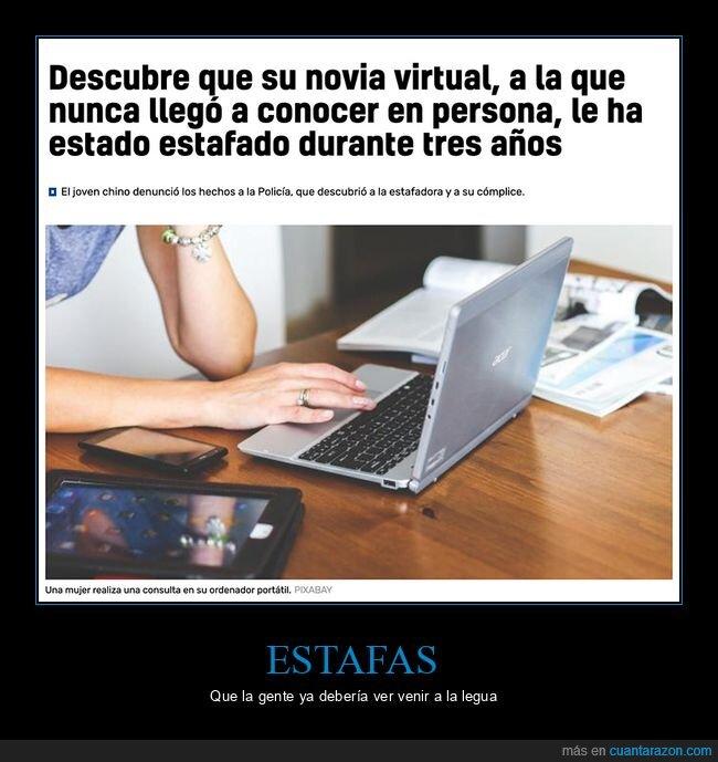 estafado,novia virtual