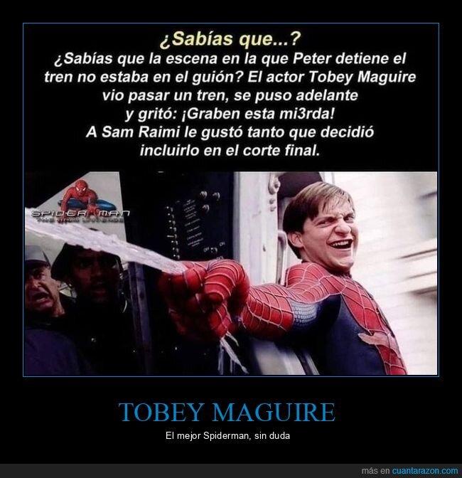 detener,spiderman,tobey maguire,tren