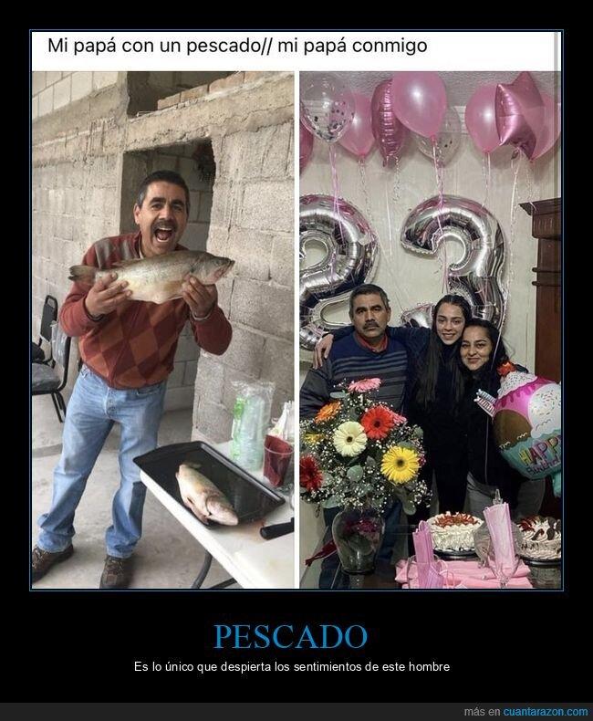 cumpleaños,padre,pescado