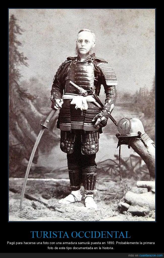 1890,retro,samurái,turista