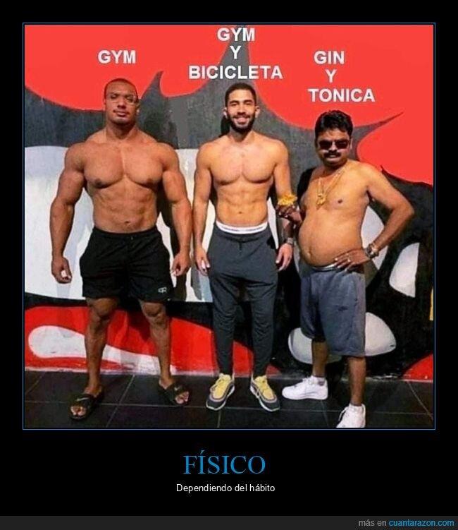 bicicleta,gimnasio,gin tonic
