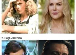 Enlace a Comparaciones de actores en su primer y último papel