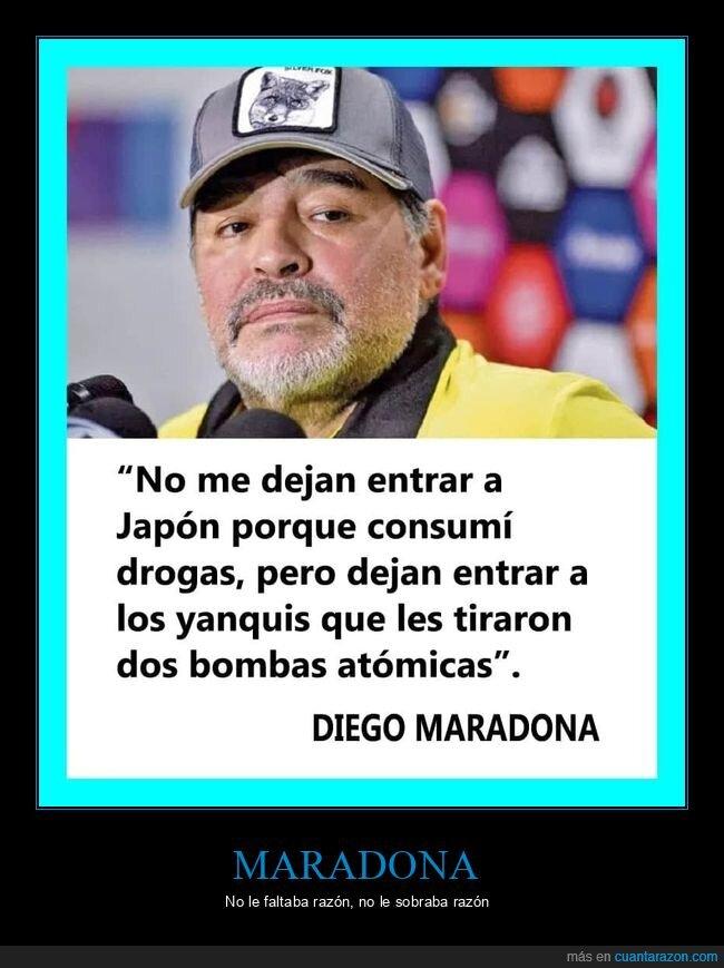 bombas atómicas,drogas,japón,maradona