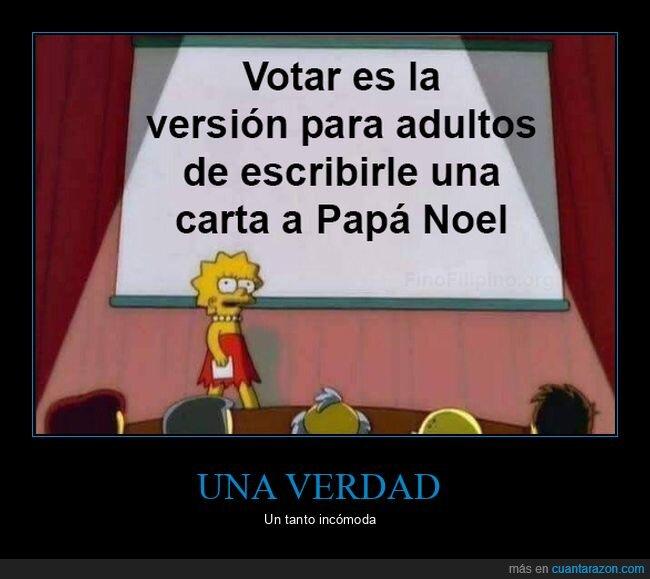 carta,papá noel,votar