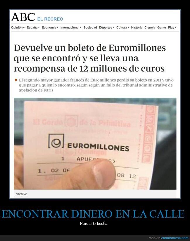 boleto,euromillón,recompensa