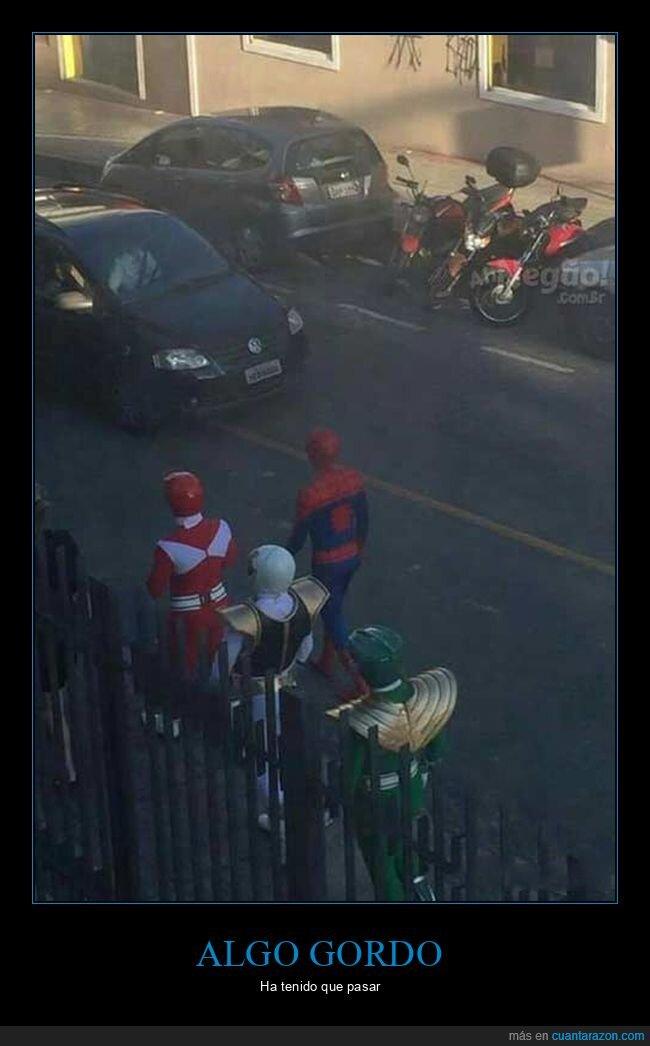 power rangers,spiderman