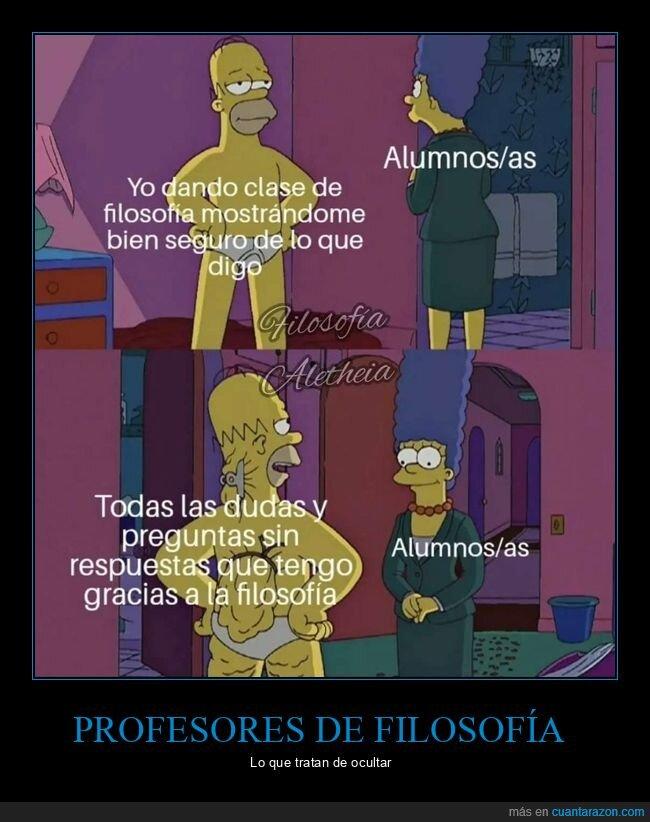 clase,filosofía,simpsons