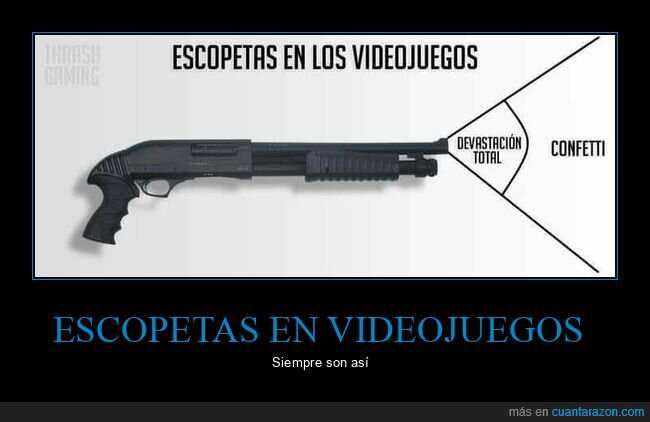 escopetas,videojuegos