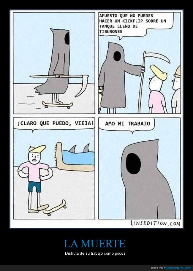 la muerte,skate,tiburones