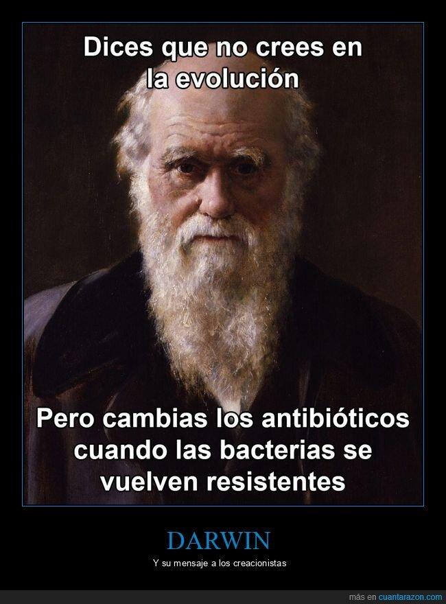 antibióticos,darwin,evolución