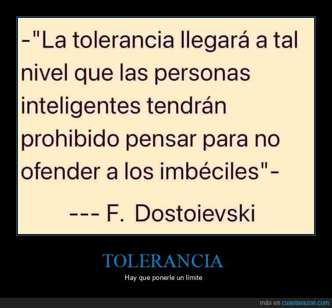 imbéciles,inteligentes,ofender,pensar,tolerancia