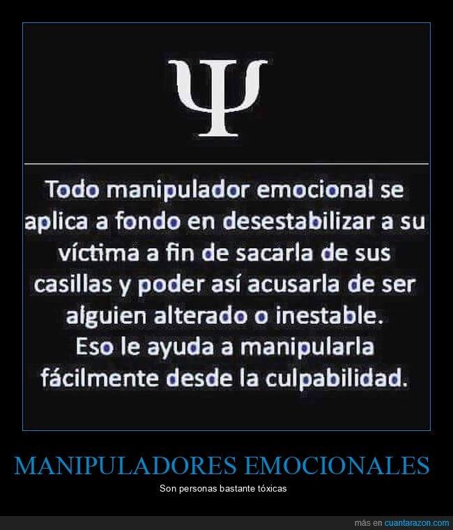 emocional,manipulador