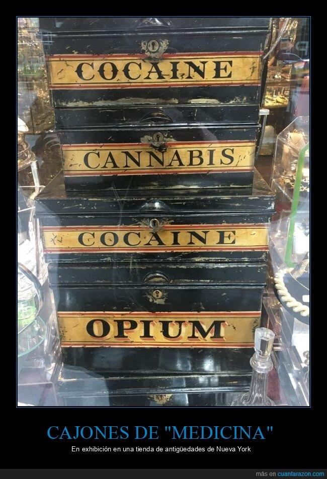 cajones,drogas,medicina