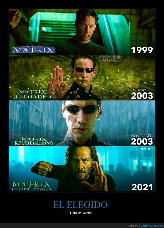 matrix,matrix resurrections,películas