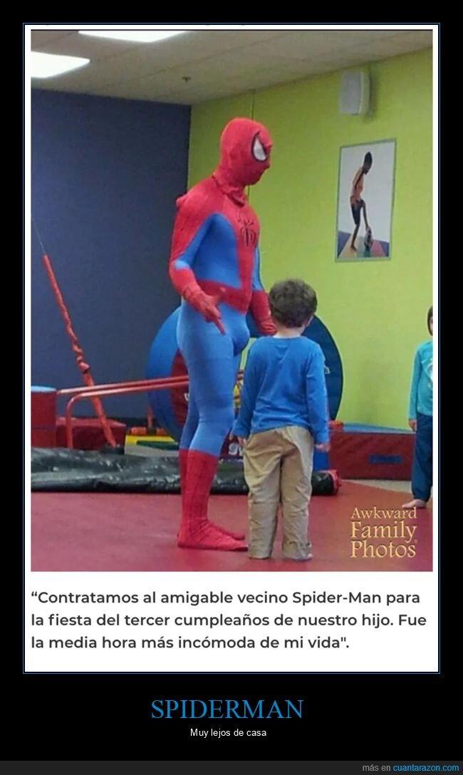 cumpleaños,niño,spiderman,wtf
