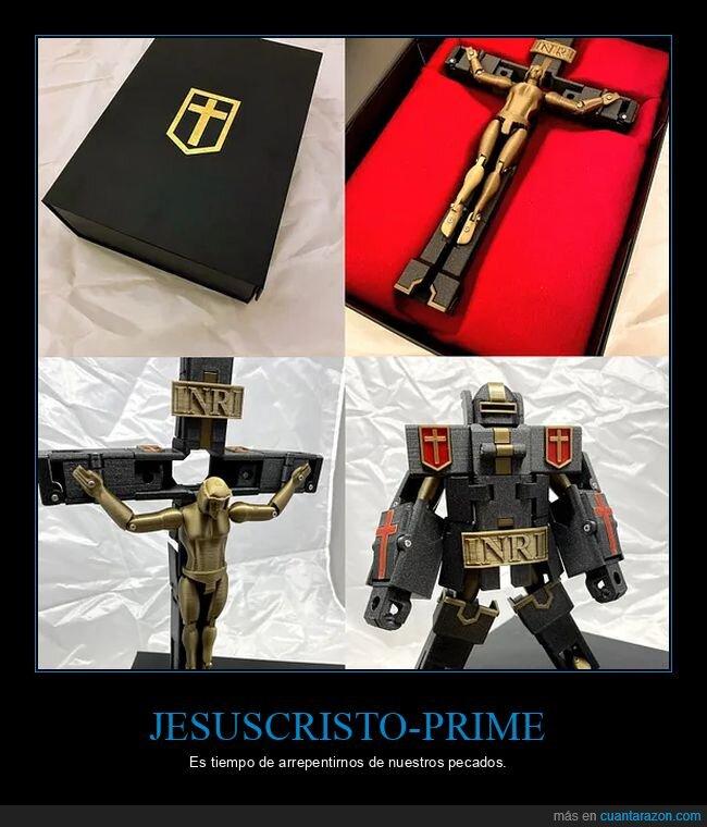 jesus,jesuscristo,optimus prime,transformers