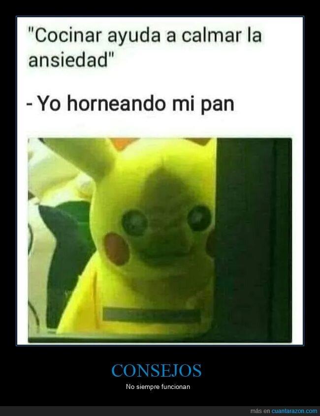 ansiedad,cocinar,consejos,pikachu,pokemon