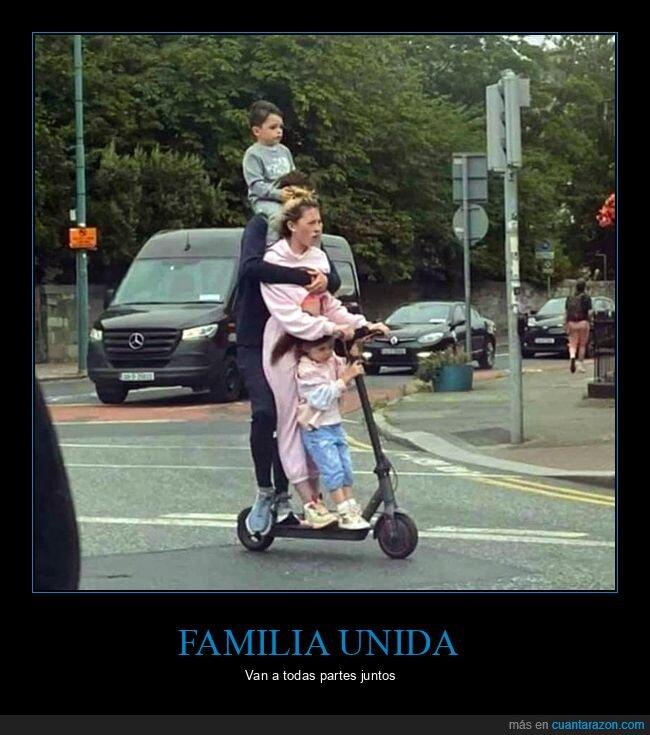 familia,patinete eléctrico,wtf