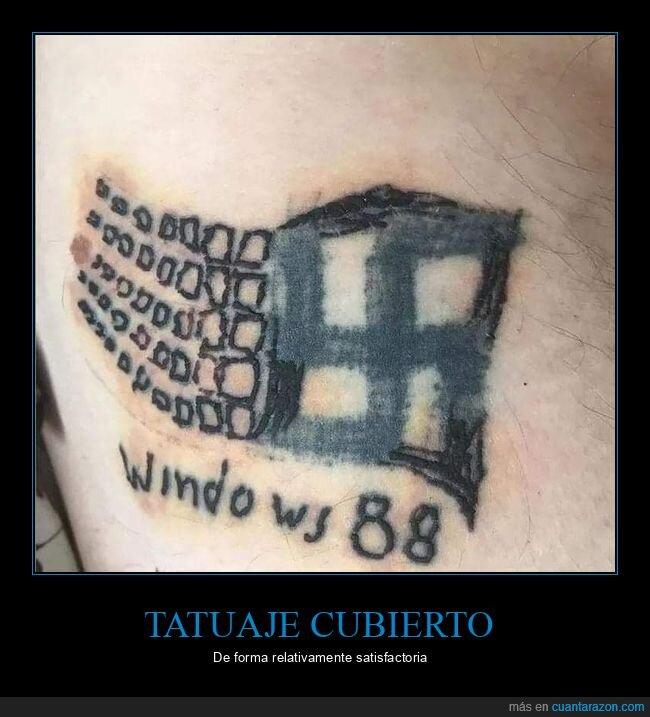 esvástica,tatuaje,windows