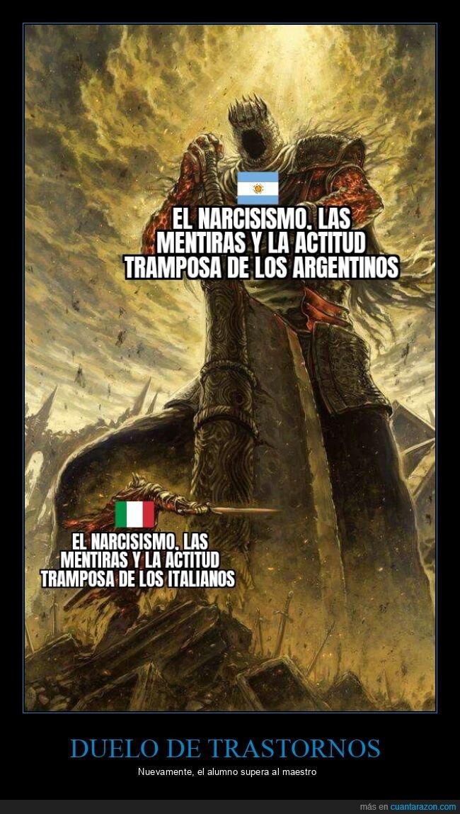 argentina,italia,narcisismo
