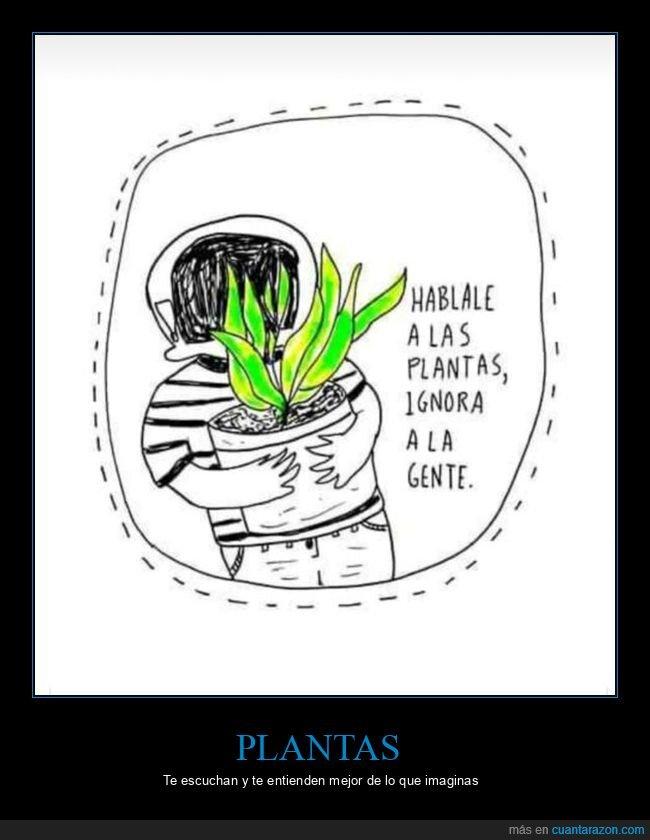 hablar,plantas