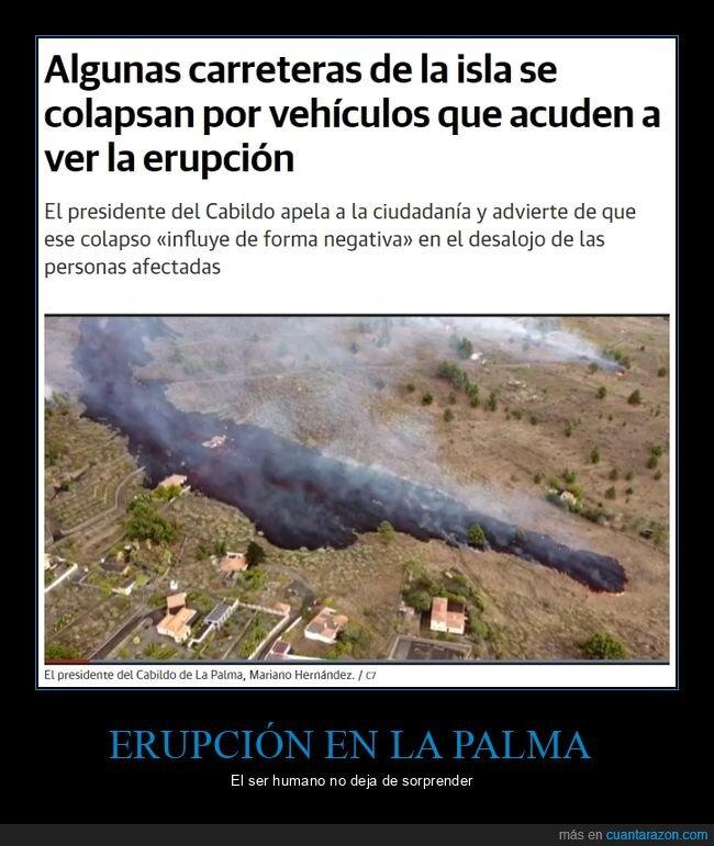 carreteras,erupción,evacuación,la palma,volcán