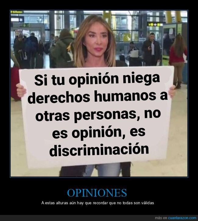 derechos humanos,discriminación,opinión