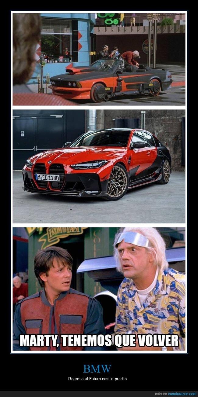 bmw,coches,parecidos,regreso al futuro
