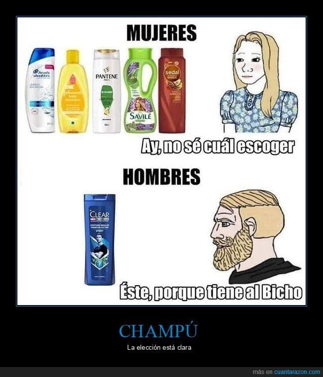 champú,hombres,mujeres