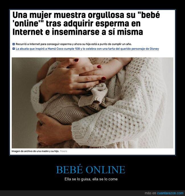 bebé,esperma,inseminarse,online,wtf