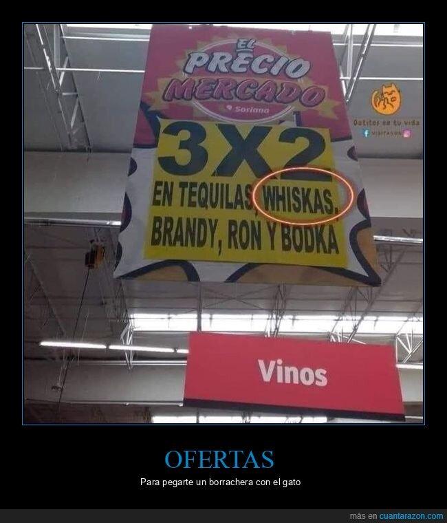 bebidas,fails,oferta,supermercado,whiskas
