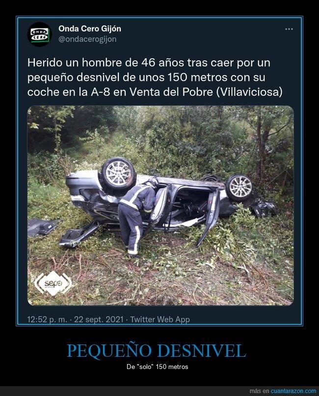 accidente,coche,desnivel