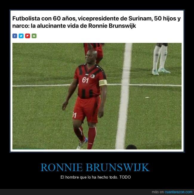 futbolista,ronnie brunswijk,surinam,vida,wtf