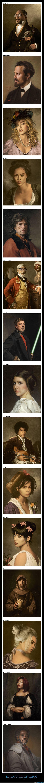 famosos,pinturas clásicas,retratos